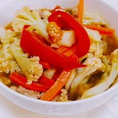 西红柿焖菜花