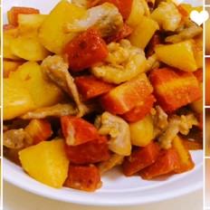 水果胡萝卜土豆炒肉