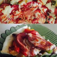 电饼铛制作披萨