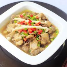 海鲜菇蒸鸡