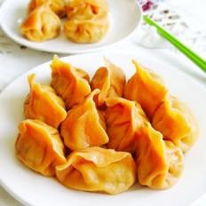 胡萝卜汁猪肉饺子
