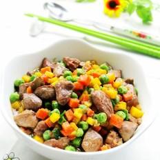 胡萝卜豌豆炒鸡肝