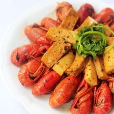 千叶豆腐焖小龙虾