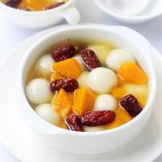 红枣南瓜煮汤圆