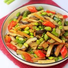 毛豆香菇炒香干