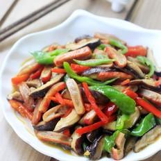 香菇炒蟹排