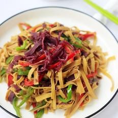 红椰菜炒豆皮