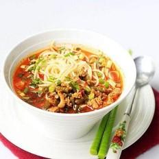 酸豆角汤面条
