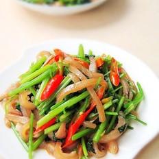毛芹菜炒肉皮