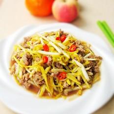 韭黄炒肉末