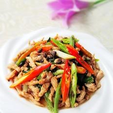 双椒豆豉炒肉丝