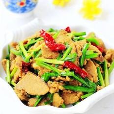 韭菜炒豆渣