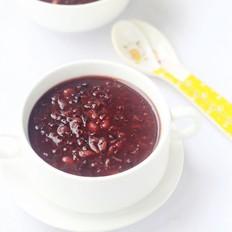紫糯米红豆粥