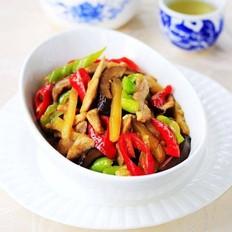 榨菜香菇炒肉