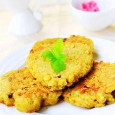 玉米鸡蛋米饭饼