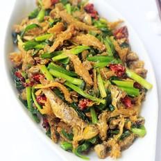 韭菜炒小鱼