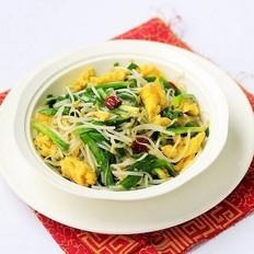 韭菜绿豆芽炒鸡蛋