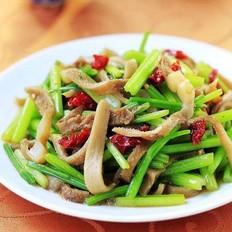 毛芹菜炒羊肚