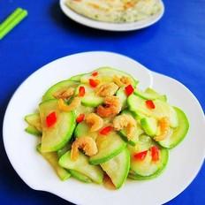 虾仁炒葫芦瓜