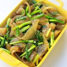 韭菜炒苕粉