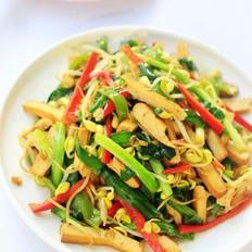 韭菜香干炒黄豆芽