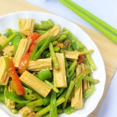 蒜薹炒腐竹的做法