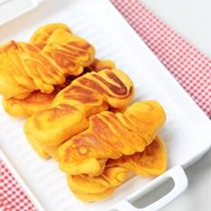 煎红薯花卷