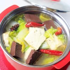 白菜豆腐炖血块