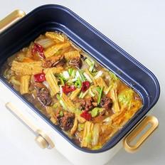 鸡肉白菜炖腐竹
