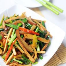 韭菜香干炒肉皮