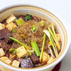 鸭血豆腐粉条煲