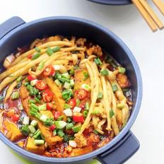 海鲜菇豆腐煲