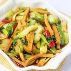 上海青炒豆腐干