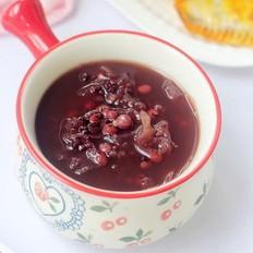 红豆紫糯米银耳粥