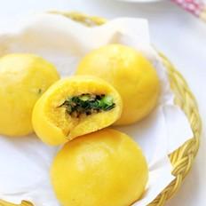 韭菜牛肉玉米面团子的做法
