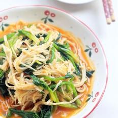 菠菜拌金针菇的做法