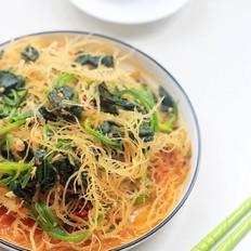 菠菜拌石花菜