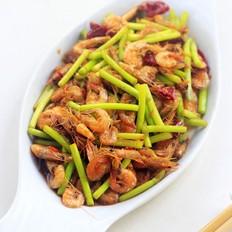 蒜薹炒小河虾