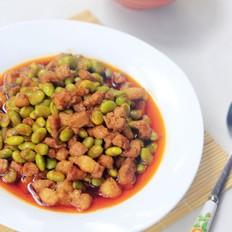 毛豆炒肉丁的做法