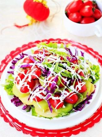 酸奶蔬菜水果沙拉的做法