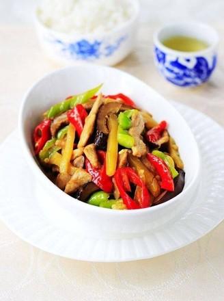 榨菜香菇炒肉的做法