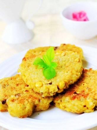 玉米鸡蛋米饭饼的做法