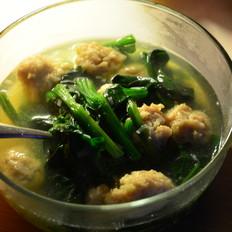 虾丸子菠菜汤