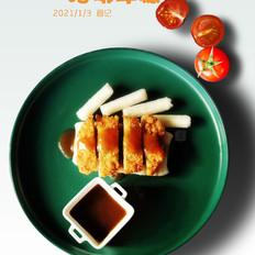 上海经典小吃猪排年糕