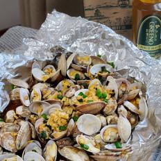 蒜香烤蛤蜊的做法