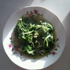 蒜炝小白菜