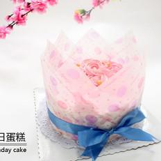 花束奶油生日蛋糕