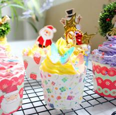自制圣诞杯子蛋糕——简易版