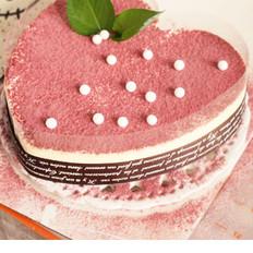 8寸心形芝士慕斯蛋糕
