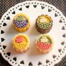彩色桃山皮月饼的做法